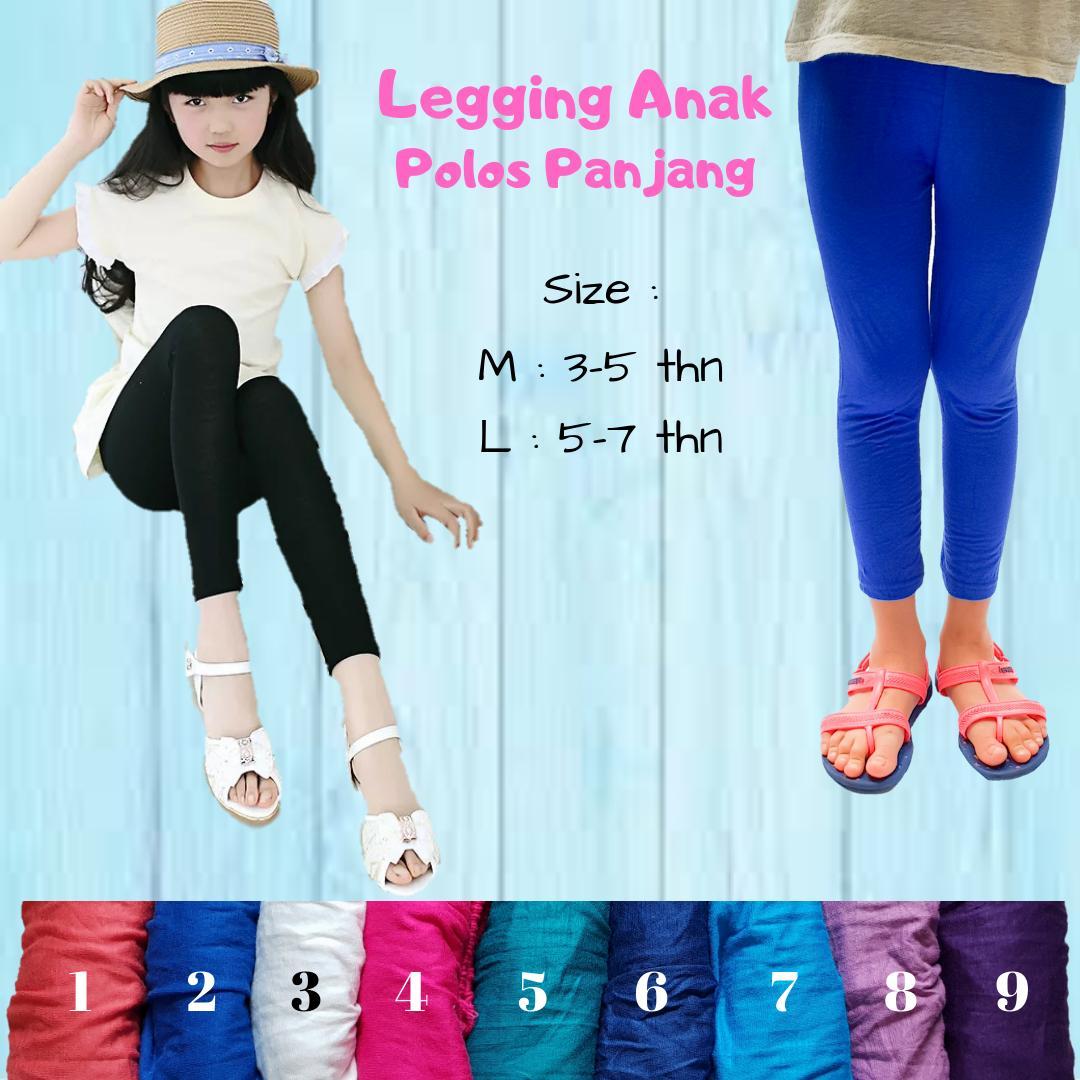 Cheron - Legging Anak Panjang Polos Celana Cewek Perempuan Kekinian By Cheron Fashion.