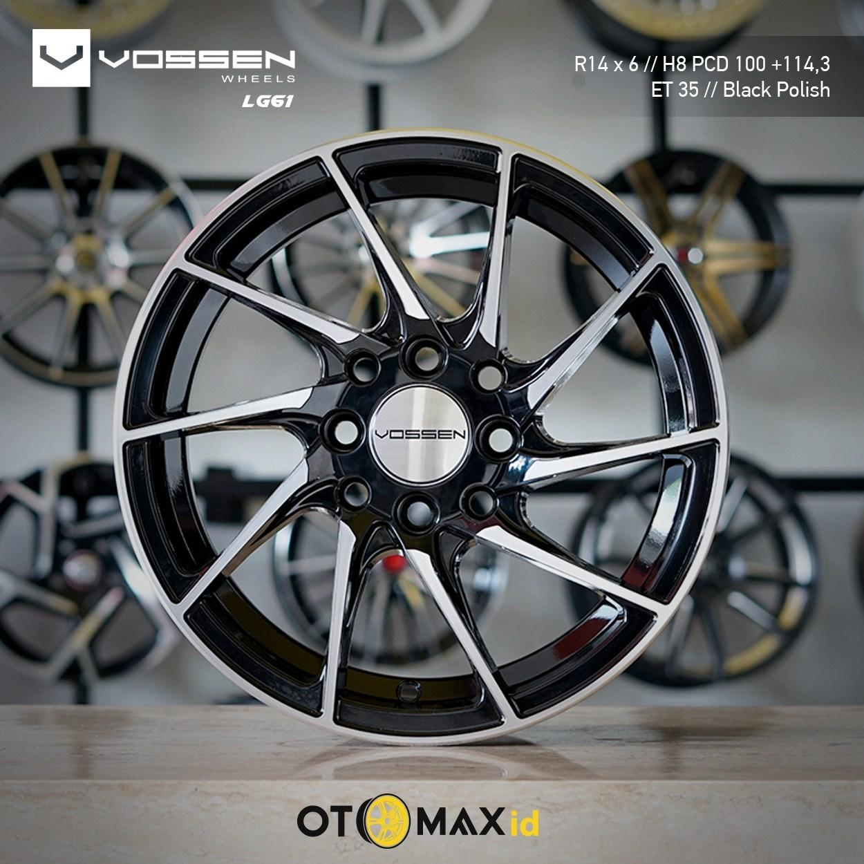 Velg Mobil Vossen LG61 Ring 14 Black Polish