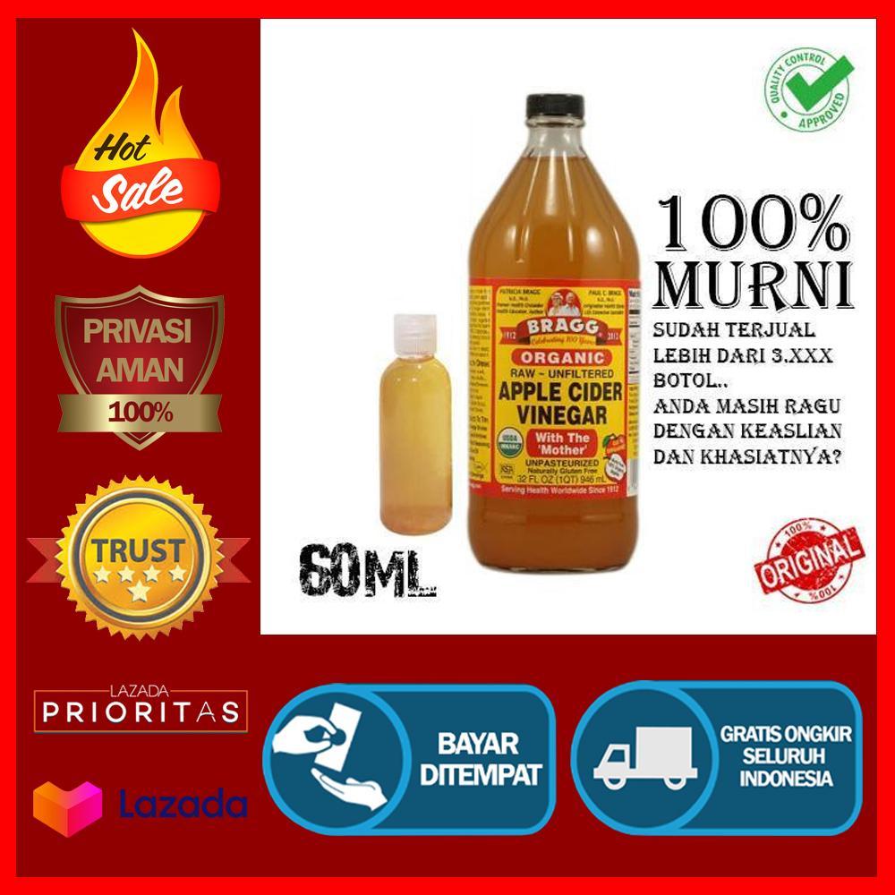 Cuka Apel Bragg Apple Cider Vinegar CukaApel Original Murni - 60mL