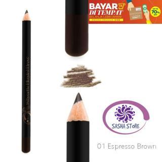SS Madame Gie Pensil Alis Silhouette Blended Brow 01 Espresso Brown Waterproof Eye Brow Eyebrow thumbnail