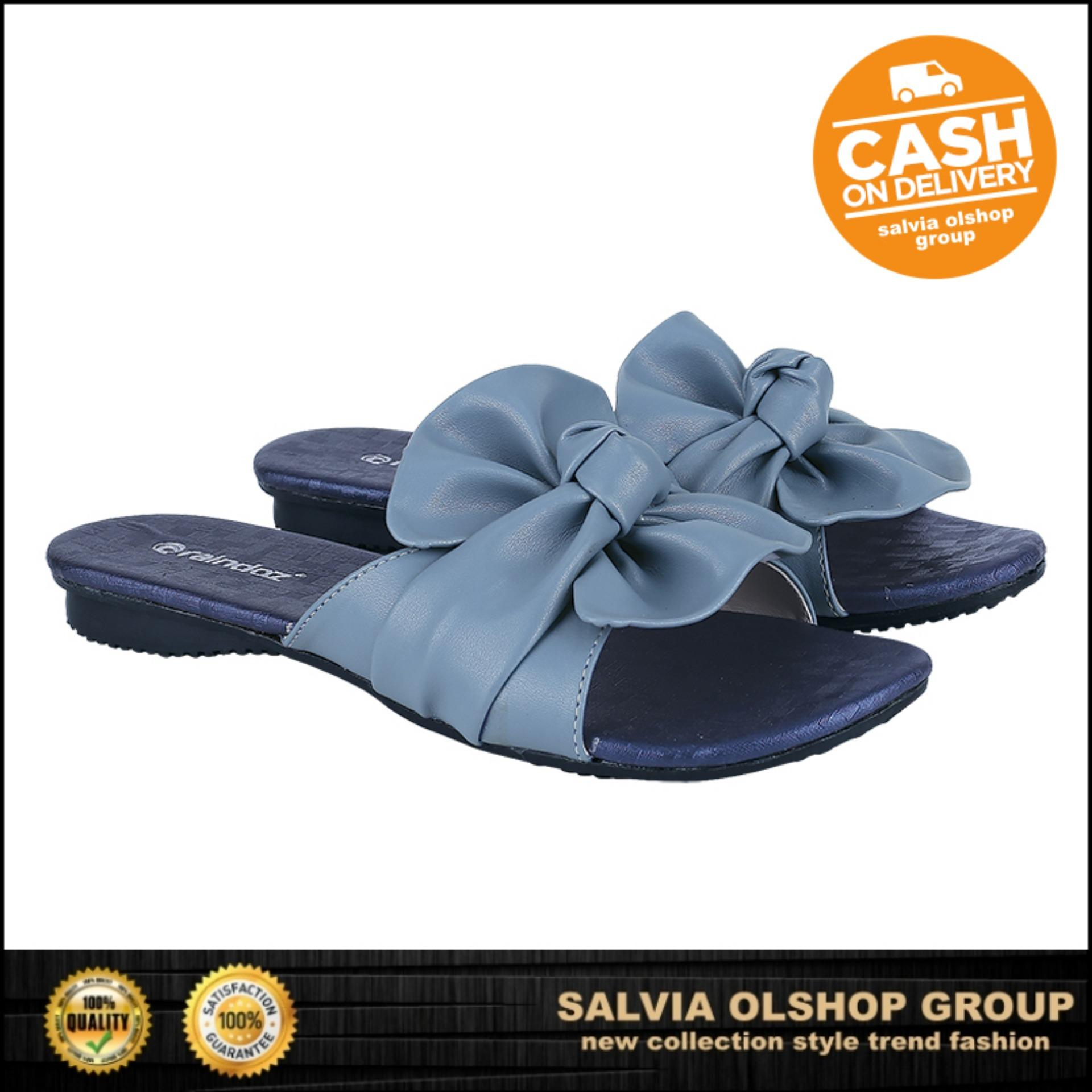 Sandal Flat Wanita Lucu Dan Modis Rdz X 002 - Biru