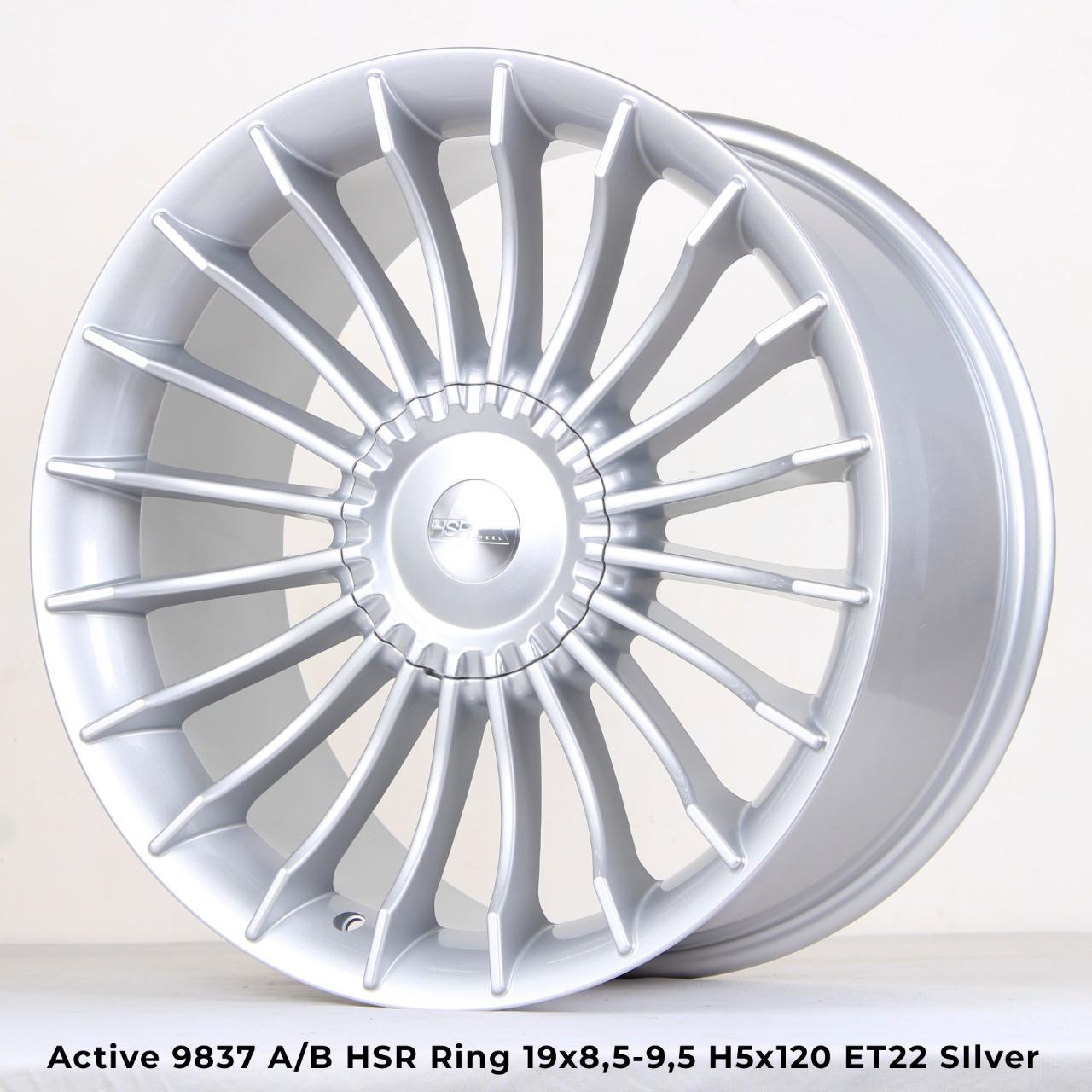 velg mobil active hsr ring 19 bmw serie 4 5 7 warna silver polish