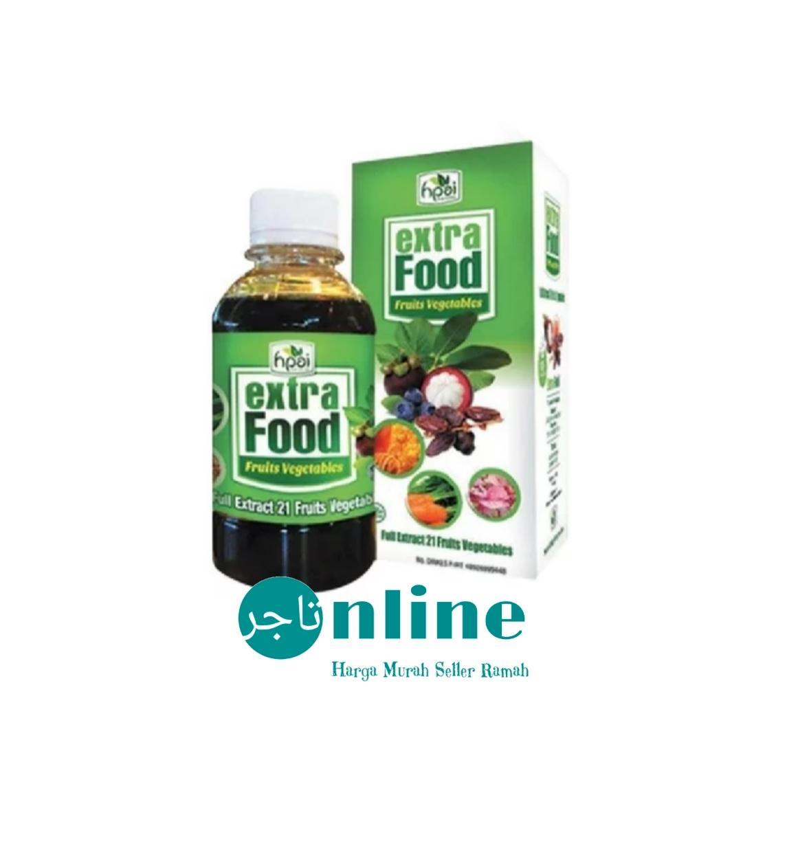 Paket Hemat 5 Botol Madu EXTRA FOOD HPAI 23 Fruit Vegetables Original