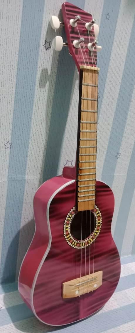 Gitar Ukulele - Uku Lele Kulele Gitar Guitar Kentrung Kentung / Musik / Music / (gitar Ukulele) 4 Senar 4 Sinar Alat Musik Kecil 4 Akustik Senar - Ars By Areski Shop.