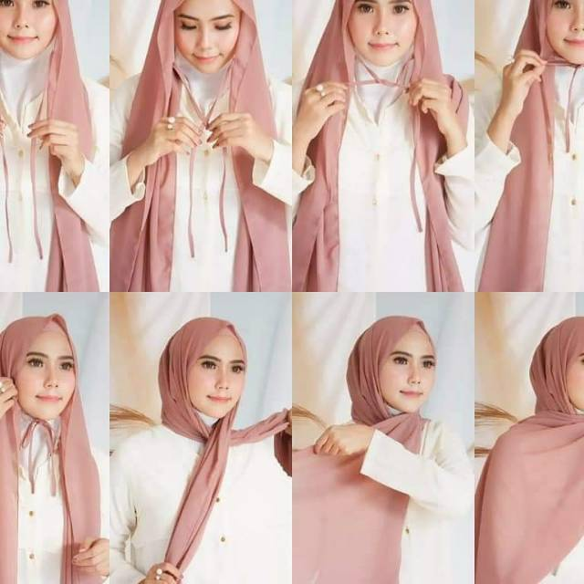 Tutorial Hijab Pashmina Diamond Tali Hijabfest