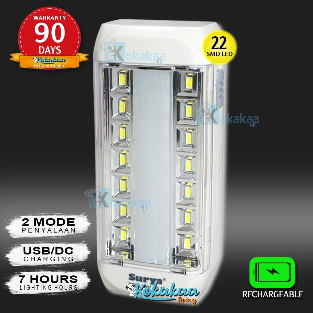 Surya Lampu Emergency Sql L2207 Light Led 22 Smd Super Terang Rechargeable 7 Hours By Kokakaa Living.