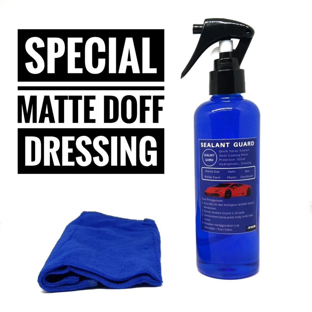 Special Matte Doff / Penghitam Dashboard / Semir Ban /semi Coating Quick Spray Sealant 265ml By Detailing Colection.