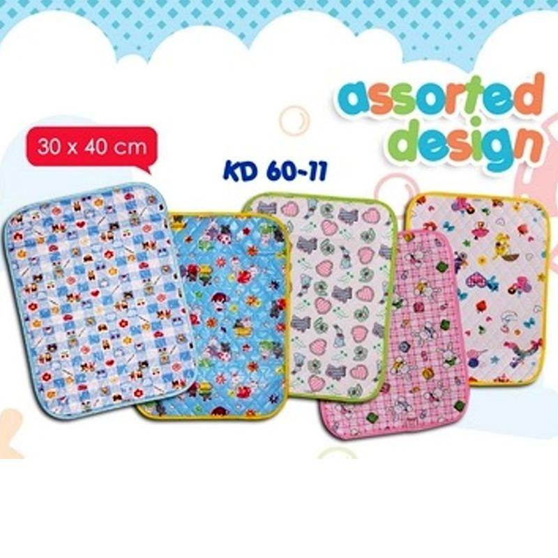 Kiddy Waterproof Sheet Print Motif Dan Warna Acak Ukuran 30 X 40 - Perlak Bayi Print Motif By Plasamainan.