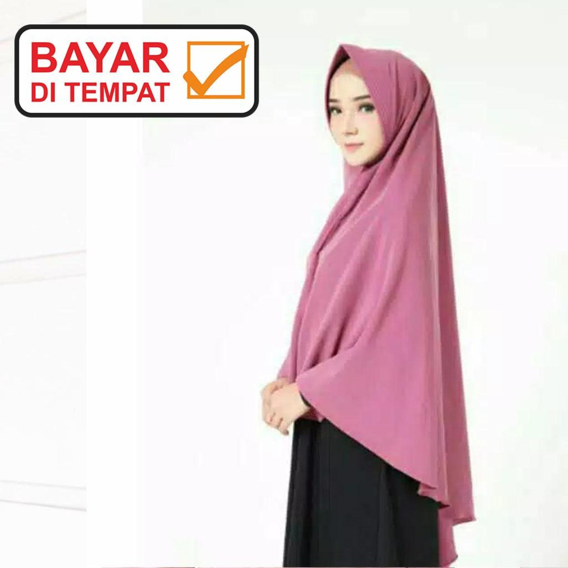 hijab / Jilbab Khimar pet syar,i zahira bahan Wolfis Premium