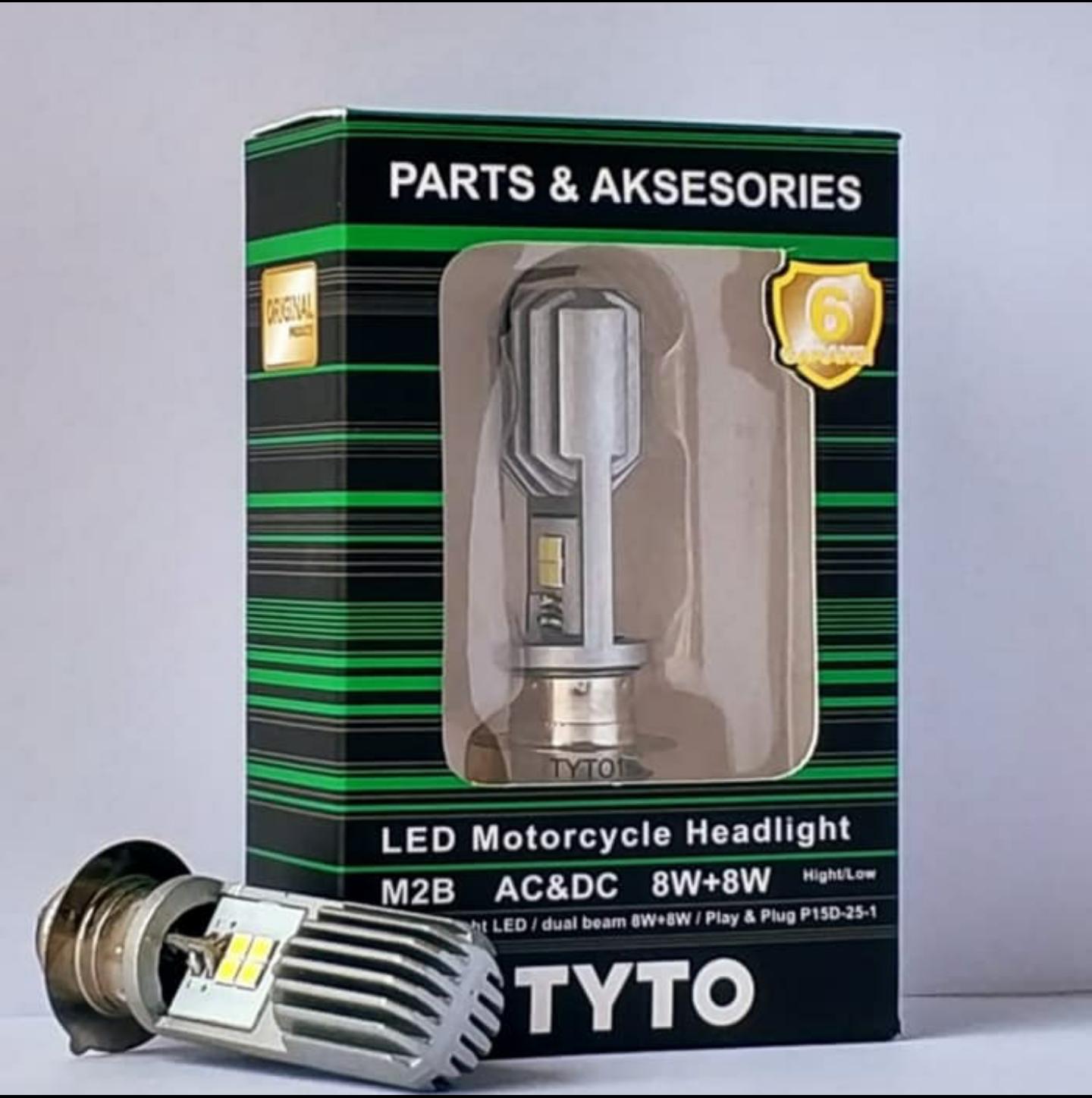 Lampu Led Motor Bebek Matic H6  2sisi - Putih