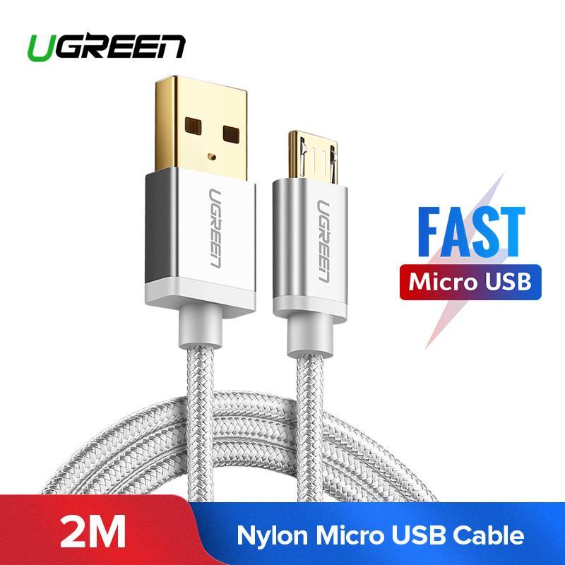 UGREEN 2M Kabel Data Micro USB for Xiaomi Redmi 5 Plus, Xiaomi Redmi 5, XIAOMI Redmi S2, XIAOMI Mi A2 Lite, XIAOMI Redmi 5A, Samsung J7, Vivo y83, Vivo v9, OPPO A77, Huawei nova 2i, Handphone Charger Cable Sync Data Charging Cable