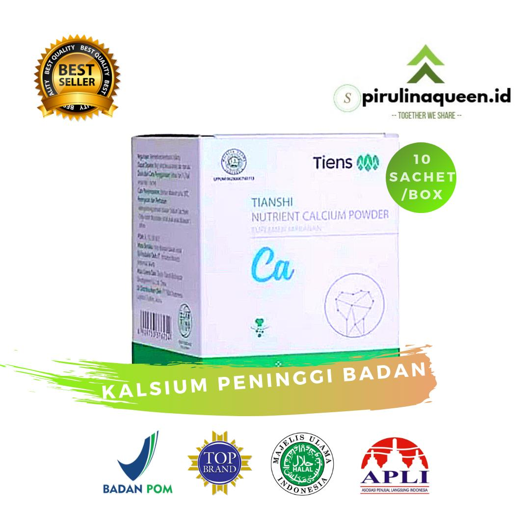 Tiens Nutrient Calcium Powder 1 Box / 10 Sachet Full Segel - 100% Original Tiens - Best Seller - Kalsium Peninggi Badan Spirulinaqueenid Peninggi Badan Terbaik Didunia By Spirulinaqueenid.