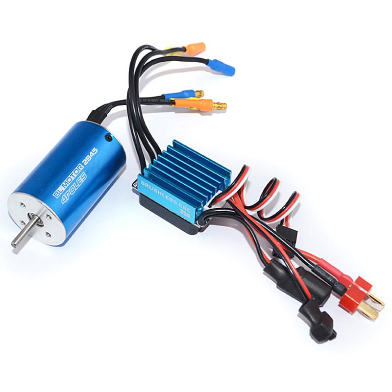 Giá 2845 4370Kv Brushless Motor + 35A Brushless Esc + Program Card For 1/14 1/16 1/18 Rc Car