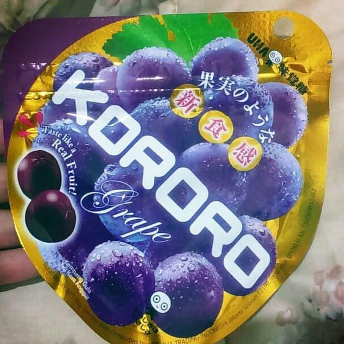 Murah Banget ! Permen Jelly Chewy Uha Kororo Permen Rasa Anggur Grape 40Gr