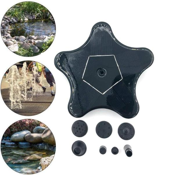 Jiuch Solar Bird Bath Fountain Pump Starfish Shape Solar Fountain Pump Solar Powered Water Fountain Pump for Bird Bath Garden Pond Pool Outdoor