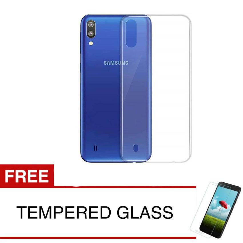 Case for Samsung Galaxy M10 - 6.22 inch - Clear + Gratis Tempered Glass - Ultra Thin Soft Case