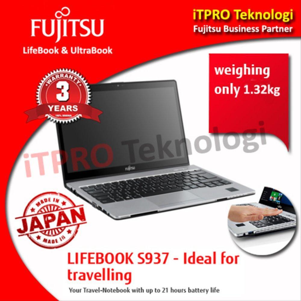 Fujitsu Lifebook S937-040 Black - Ci5-7200U,8GB,256GBSSD,13.3FHD,W10