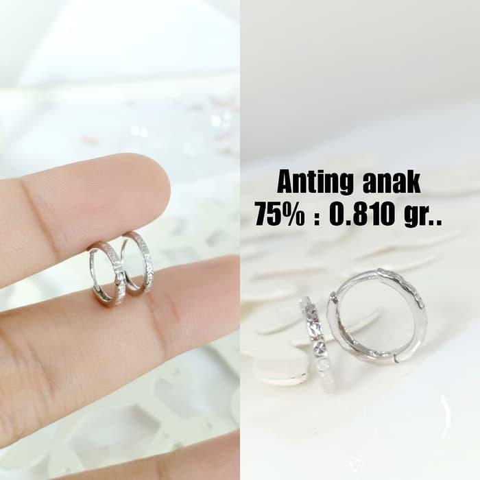 Anting Anak Emas / Mas Putih 75% Berat 0.810 Gram..