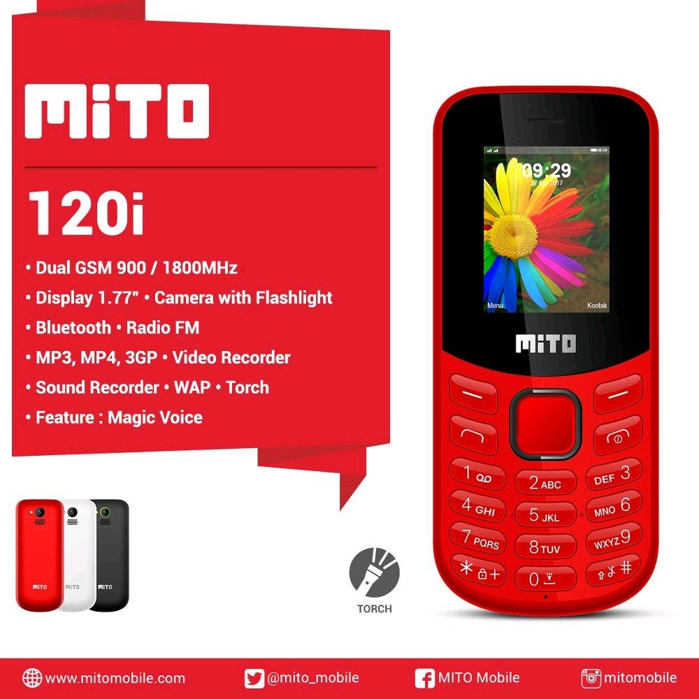 Mito 120i / Magic Voice / Bluetooth - dual sim - Radio FM / Hp unik / desain unik / hp murah