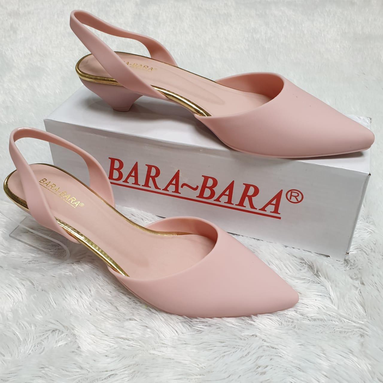 Bara ~ Bara - Jelly Shoes - Flat Shoes Wanita Hak 3 cm STR13A Warna Dikirim