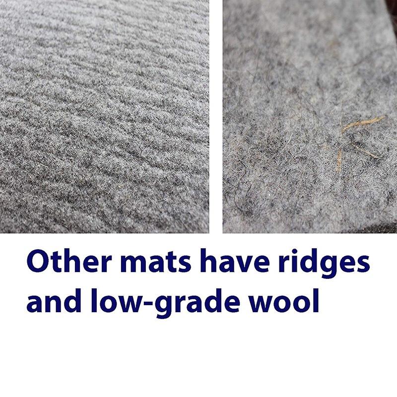 New Felt Ironing Felt Pad Grey High Temperature Ironing Pad Ironing Board,17 Inch X 24 Inch Wool Ironing Mat, Perfect Ironing Station Giá Giảm