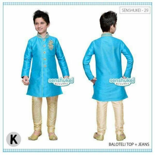 Menakjubkan Senshukei 29K Baju Koko Anak Setelan Baju Muslim Model India Pakaian Anak Impor Murah