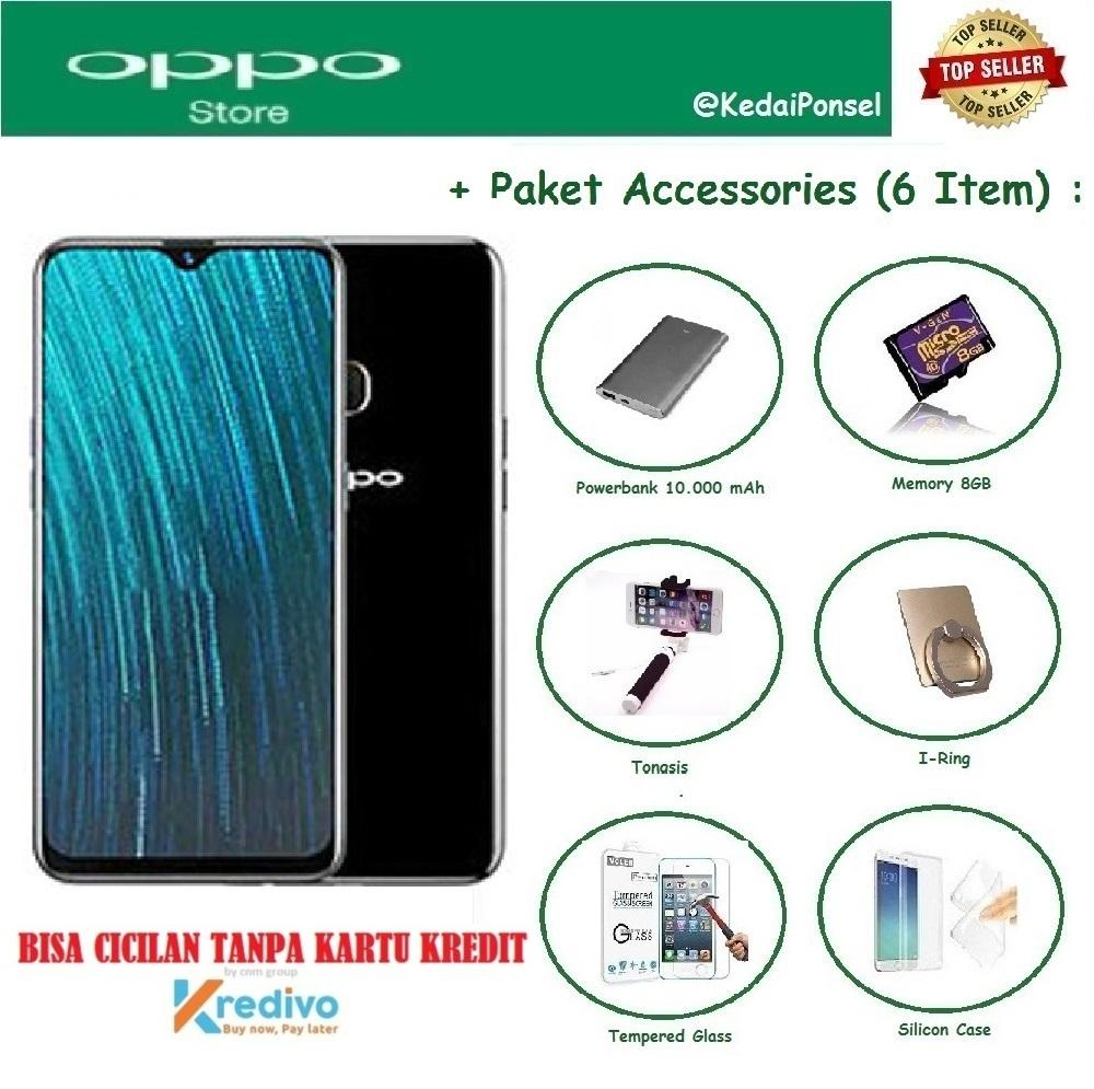 OPPO A5S [2/32GB] + 6 Item Accessories