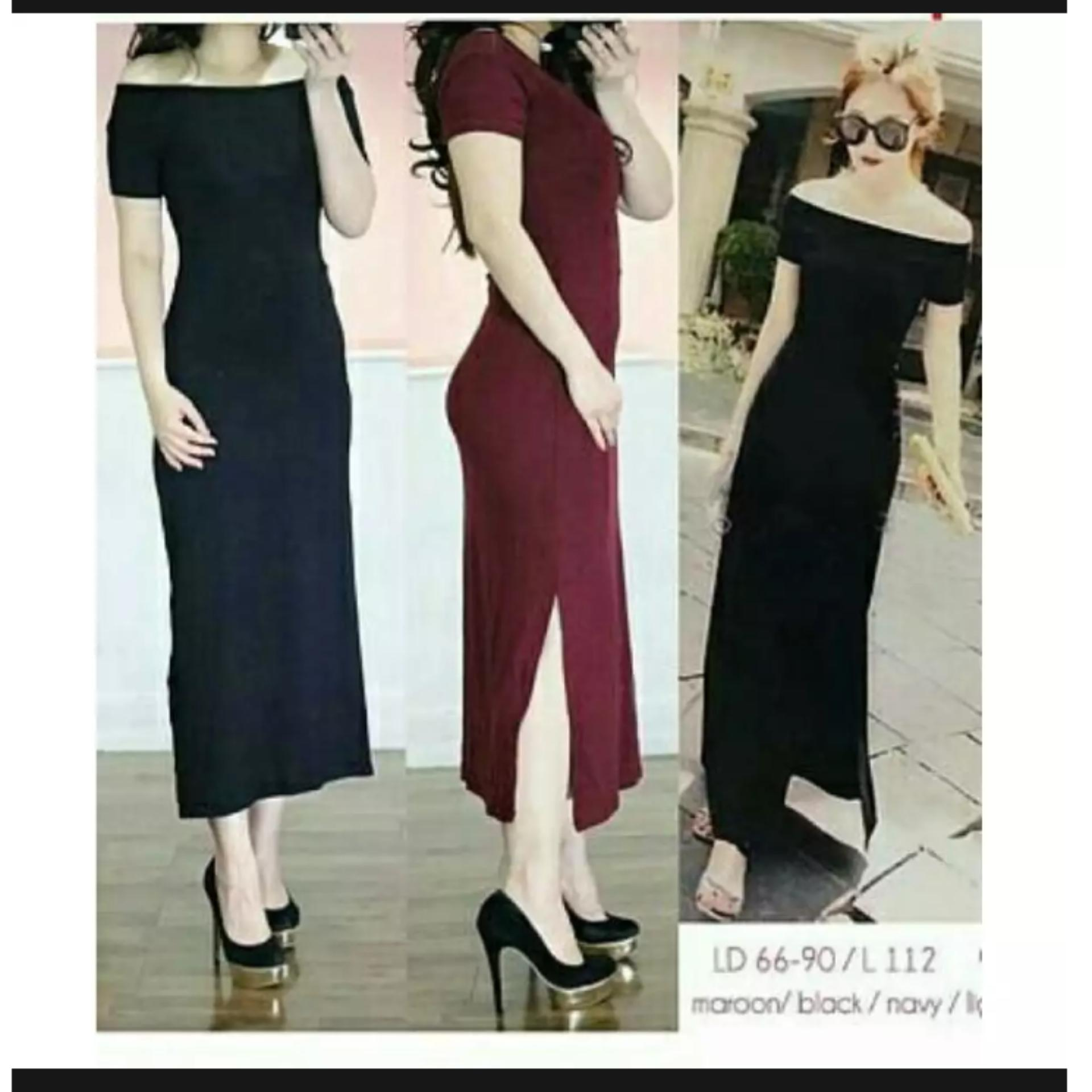Rp 34.900. Fashion Hunter comfy slim   long dress sabrina   baju pesta   gaun  malam   dress wanita   pakaian wanita ... 151c0537ce