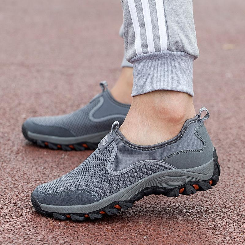 Sepatu Sneaker Pria Casual Grey Shoes kets  A102 Import High Quality