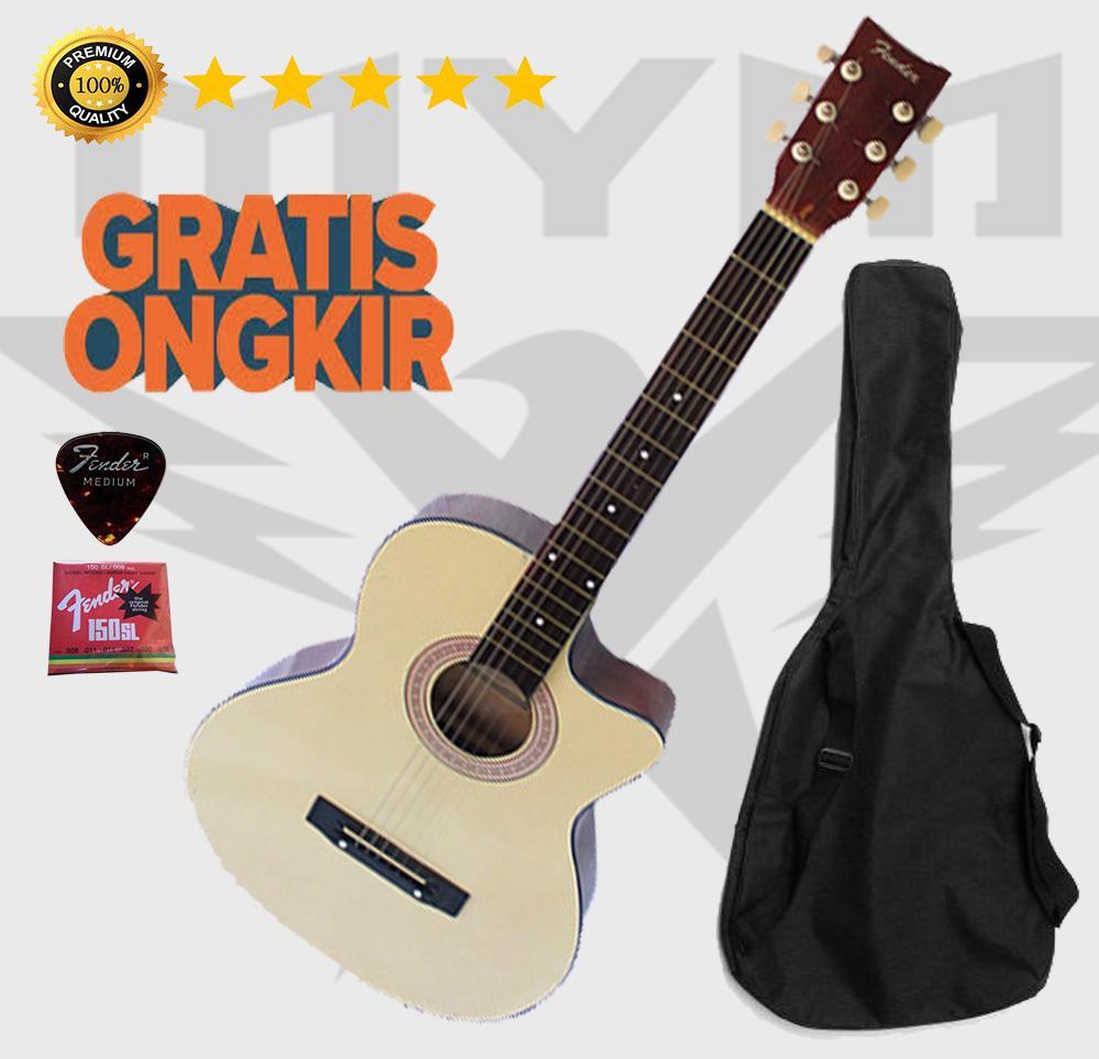 Gitar Akustik Krem By Mym Music Store--.