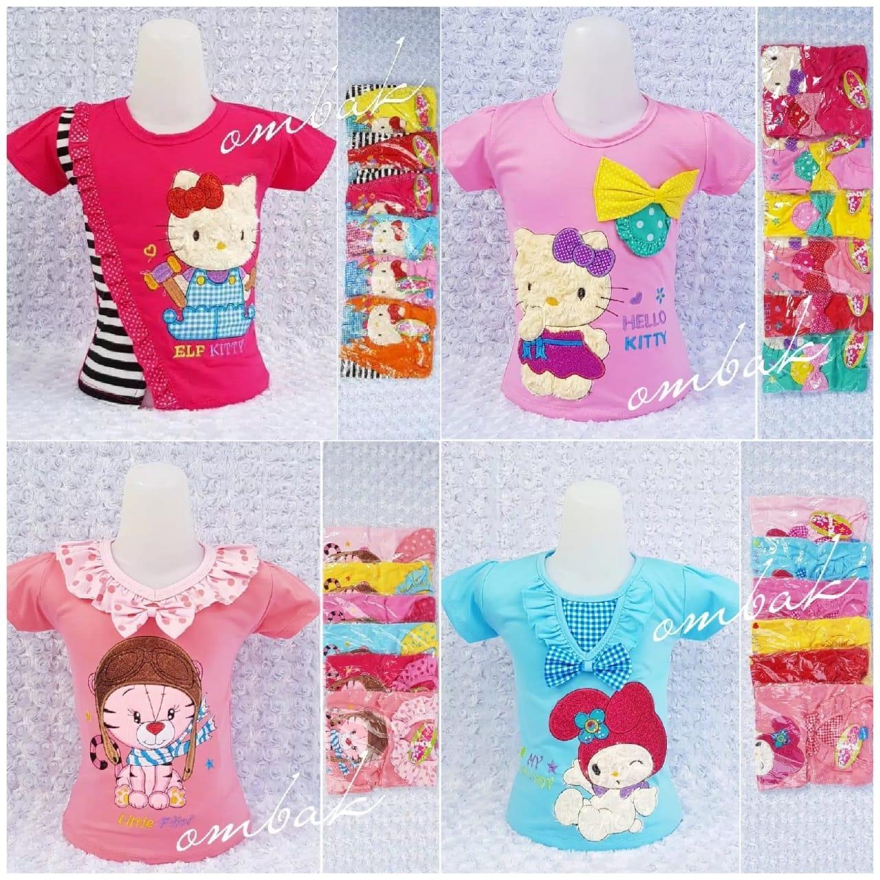 Baju Anak Kaos Grosir Kartun Ukuran Lengkap 1-8 Tahun Motif Random e960497649