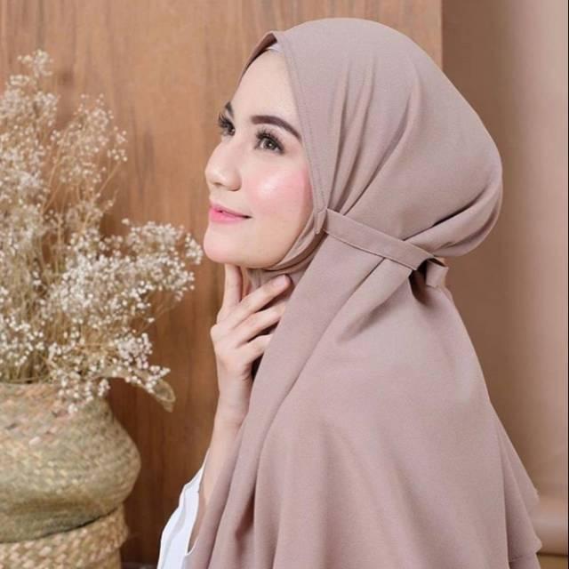 BAYAR DI TEMPAT Aisyah Bergo Instan - Hijab Muslim - Jilbab Muslim - Kerudung Instantulip.id