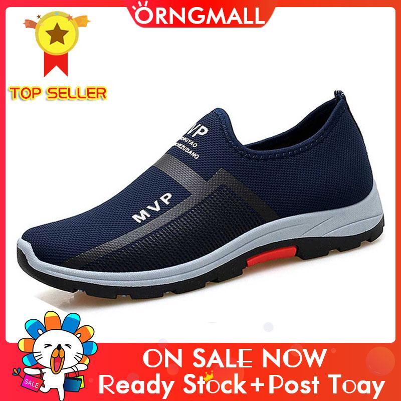 ORNGMALL Sepatu Sneakers Baru pria Kasual Sneakers Berjalan Sepatu Malas Nyaman Mengemudi Sepatu Olahraga Sepatu Atletik untuk Pria Slip On Loafers