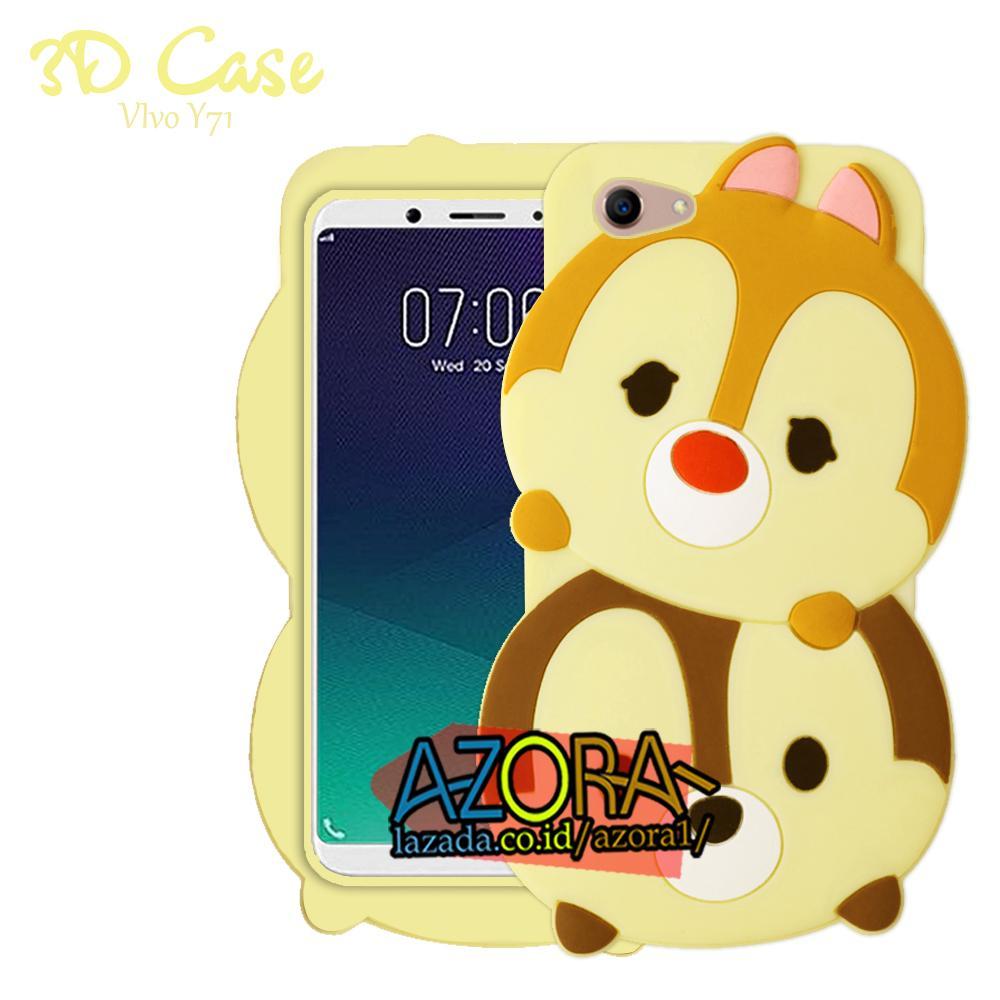 3D Case Vivo Y71 Softcase 4D Karakter Boneka Hello Kitty Poolkadot Doraemon Lucu Character Cartoon
