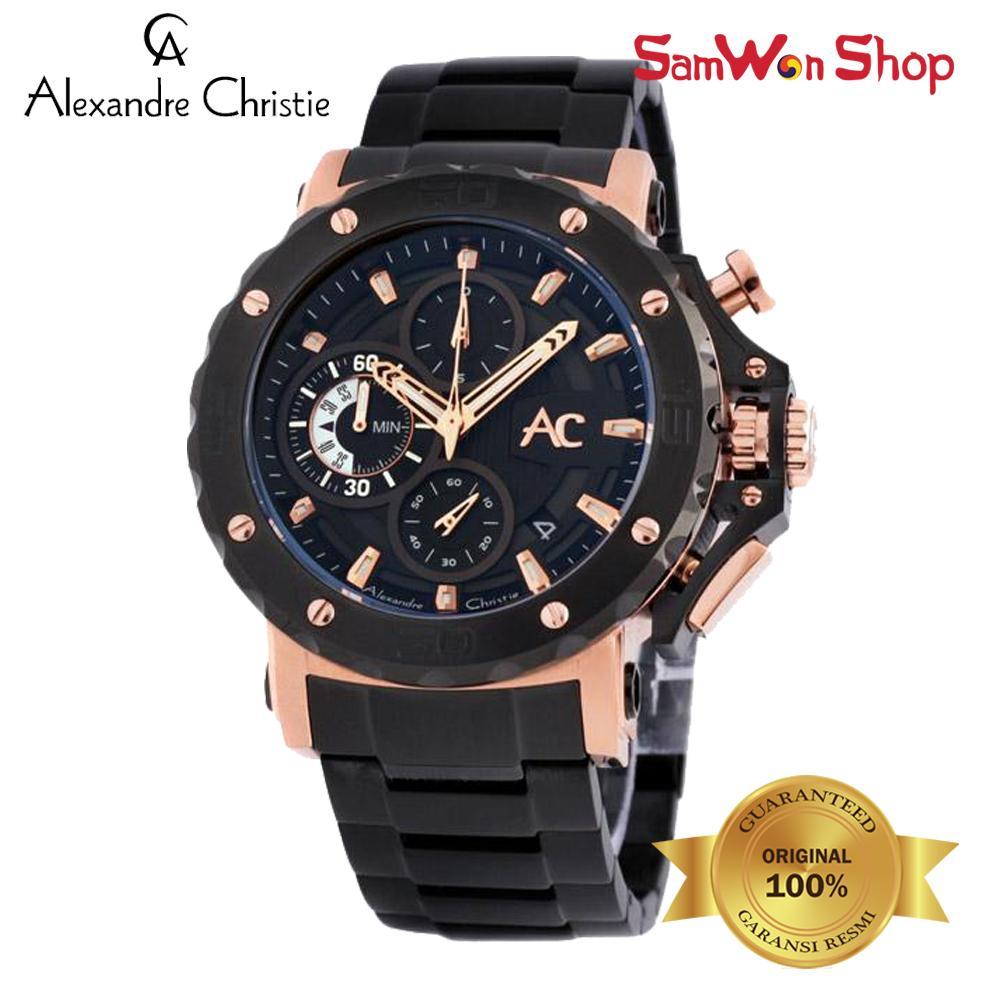 ALEXANDRE CHRISTIE AC 9205 MCBBRBA CHRONOGRAPH BLACK DIAL 100% ORIGINAL