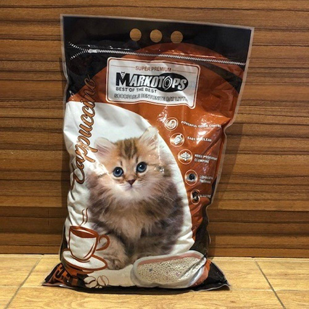 Pasir Kucing Markotops 5.5 ltr Gumpal Wangi Coffe