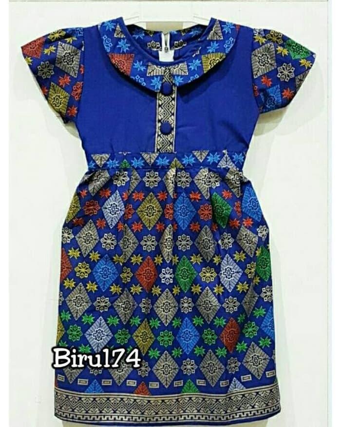 Dress anak 071 174 gaun terusan batik perempuan seragam keluarga / DZA Laris Fashion