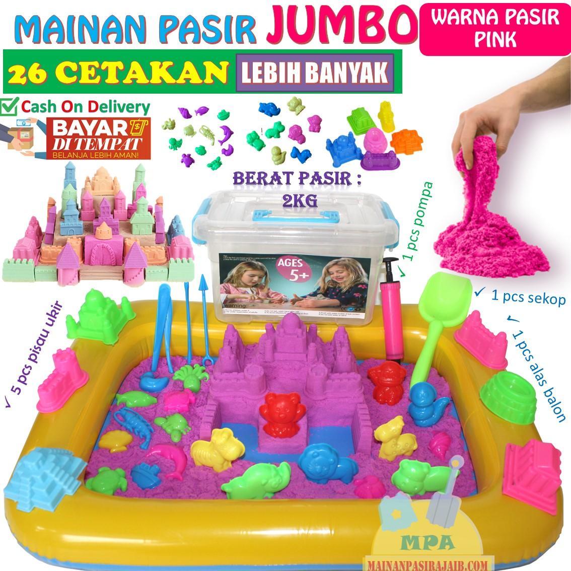 Mainan Pasir Ajaib Magic Sand Paket Lengkap 2Kg JUMBO