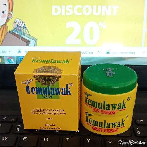 Temulawak Cream Original ( Kemasan Lama Holo Super ) Asli Malaysia By Naira Collection.