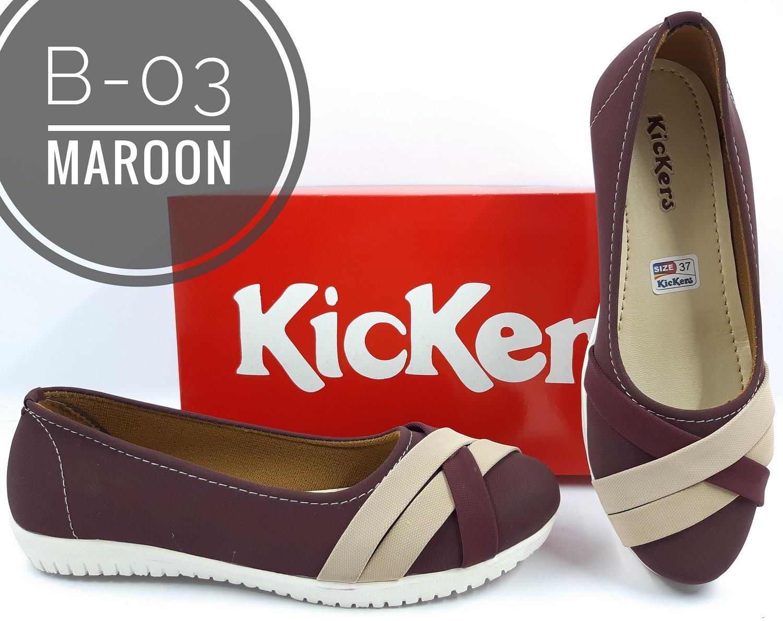 Sepatu Sandal Kickers Balet Wanita B-03