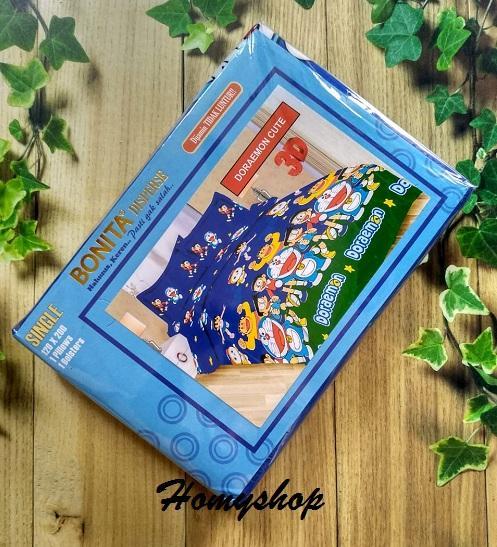 Sprei Anak Single Ukuran 120 x 200 cm Motif Kartun Karakter Motif Stitch / Tayo / CharmyKitty / OWL / Doraemon / Little Pony / HK FUNNY / Bonita / Sprei Lady Rose - Homyshop - Homy Shop
