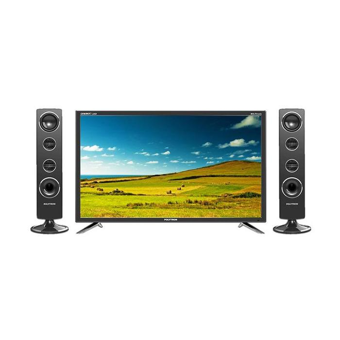 POLYTRON Cinemax LED TV with Tower Speaker PLD 24T8511