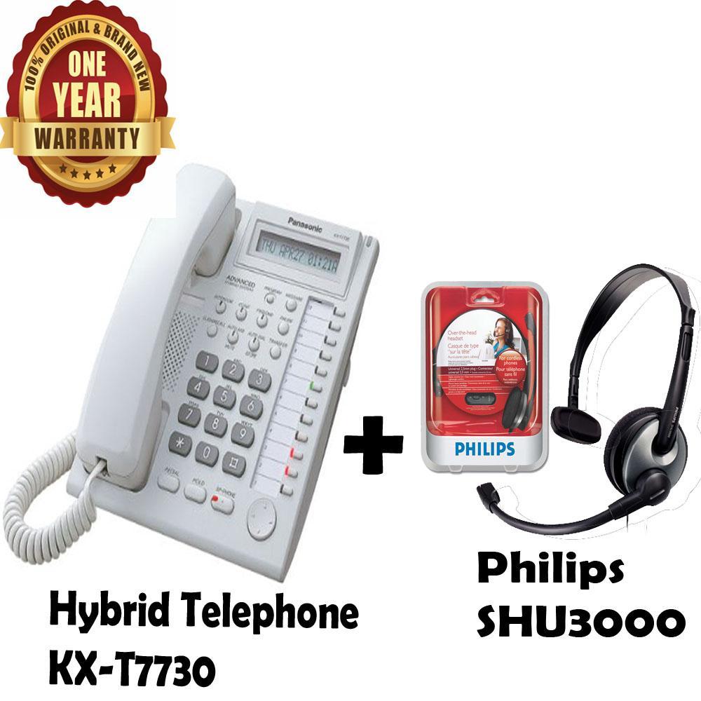 Panasonic Best Seller Murah KX-T7730 / T-7730 / T 7730 Free Headphone Headset Philips SHU3000 / SHU