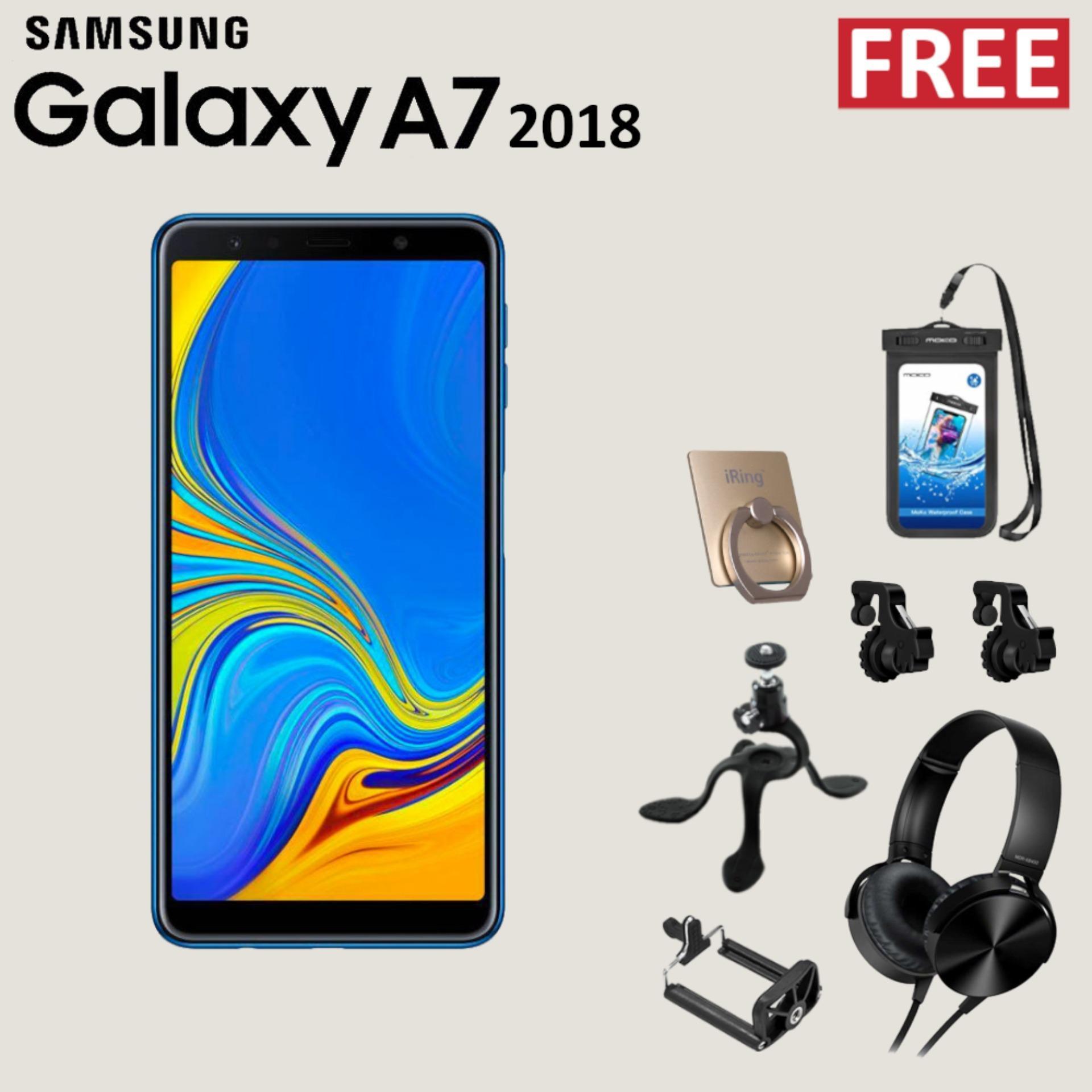 Samsung Galaxy A7 2018 4GB/64GB + Free Special Gift Garansi Resmi
