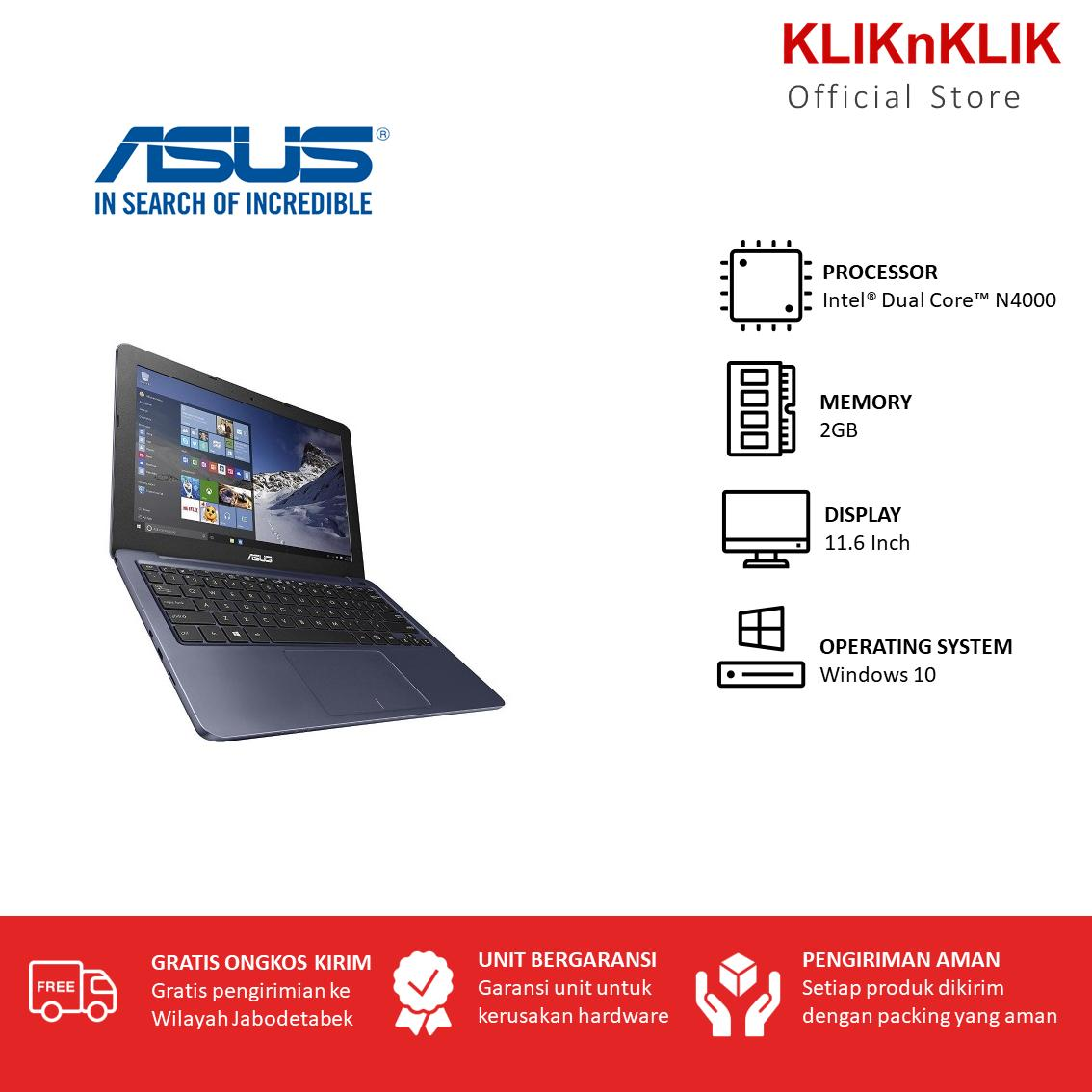 ASUS E203MAH-FD011T-Celeron DualCore N4000-2GB-11.6-win10-abu-abu