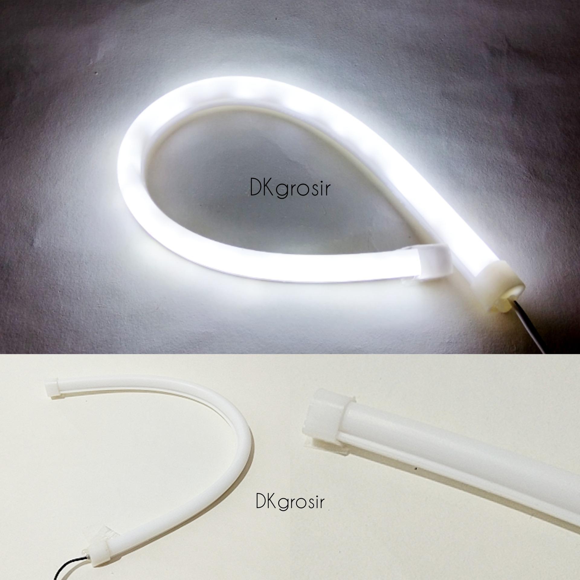 LED Lampu Alis Motor Fleksibel 30cm Putih