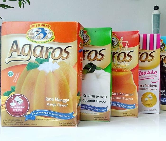 Agaros - Puding Seduh Premium Halal - Swallow Globe - Almond