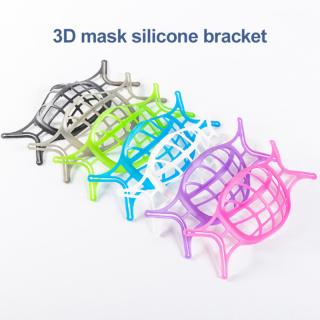 Kitorgan NEW 1 5 10 Pcs 3D Ma-Sk Chủ, Thở Nhẹ Nhàng, Hỗ Trợ Bên Trong Bảo Vệ Son Môi Khung Silicon Với Miếng Đệm Mũi Giá Đỡ Mặt Nạ Tái Sử Dụng Giặt Được thumbnail