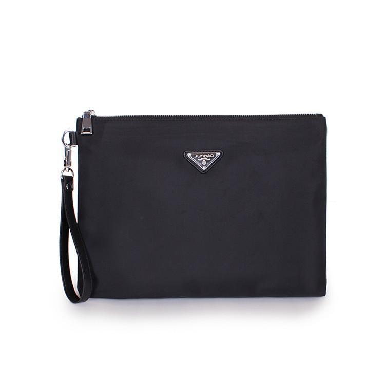 Korean Oxford Cloth A4 paper documents handbag clutch bag (Black   extra-large No ff40e57b48b54