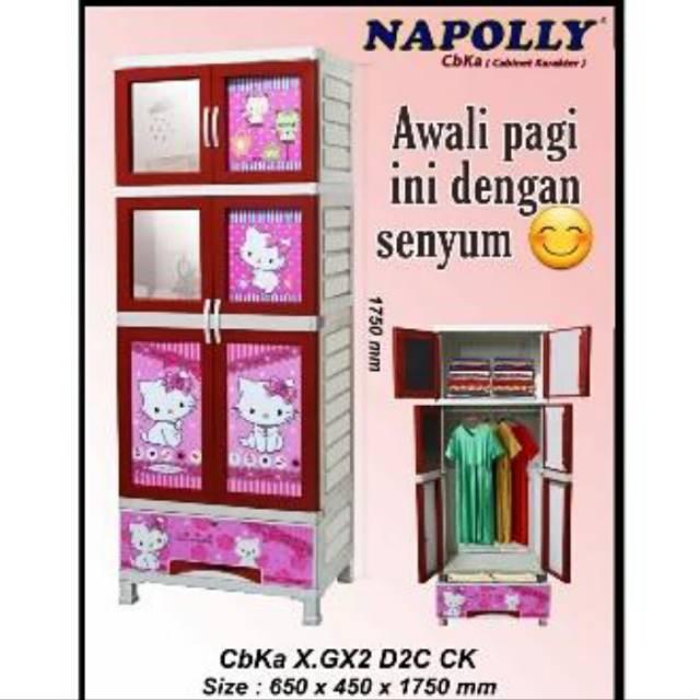 Lemari Plastik Karakter Charmy Kitty Gantung Laci Cbka Napolly Lazada Indonesia